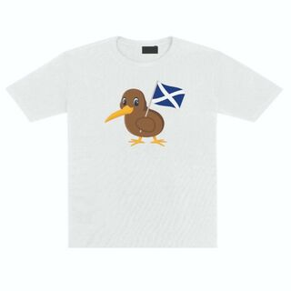 Kiwi Holding Flag Infant's Tee -Scotland