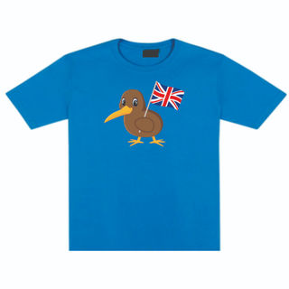 Kiwi Holding Flag Infant's Tee -British