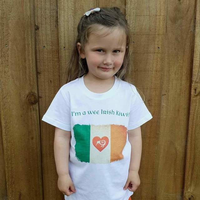 Kids Irish Kiwi Flag T Shirt